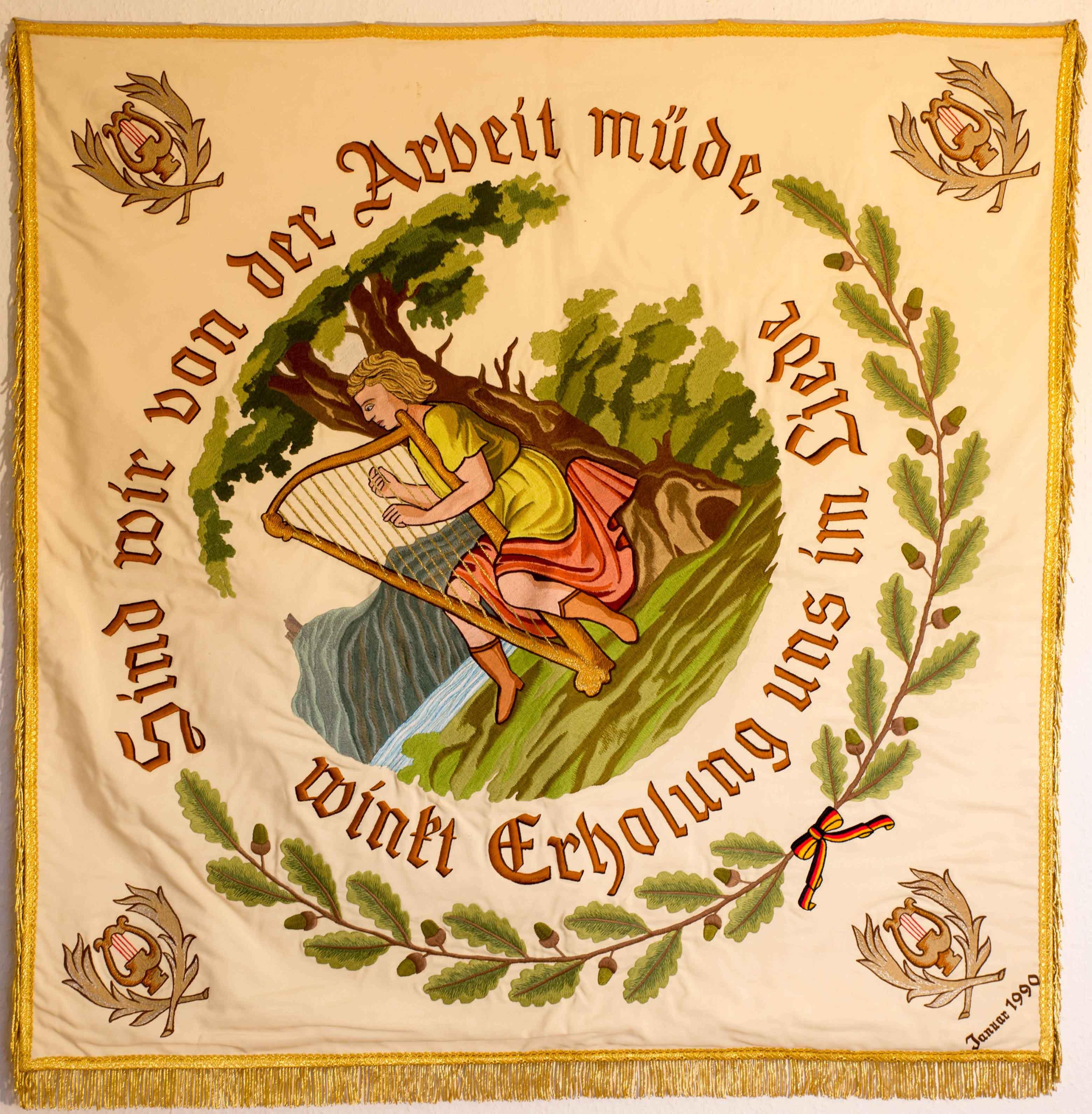 Vereinsfahne 1990