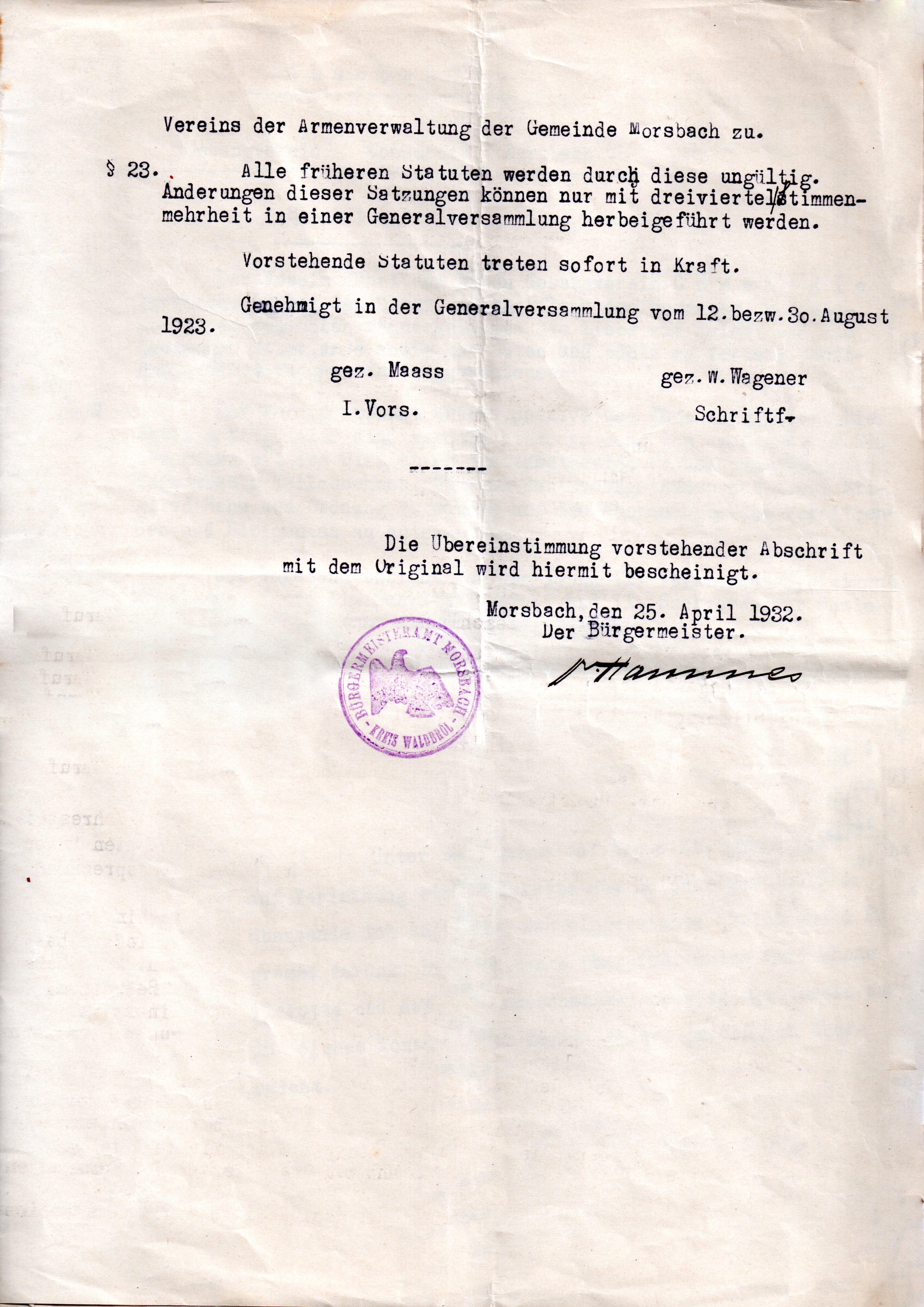 Statuten 1923 Bl. 5
