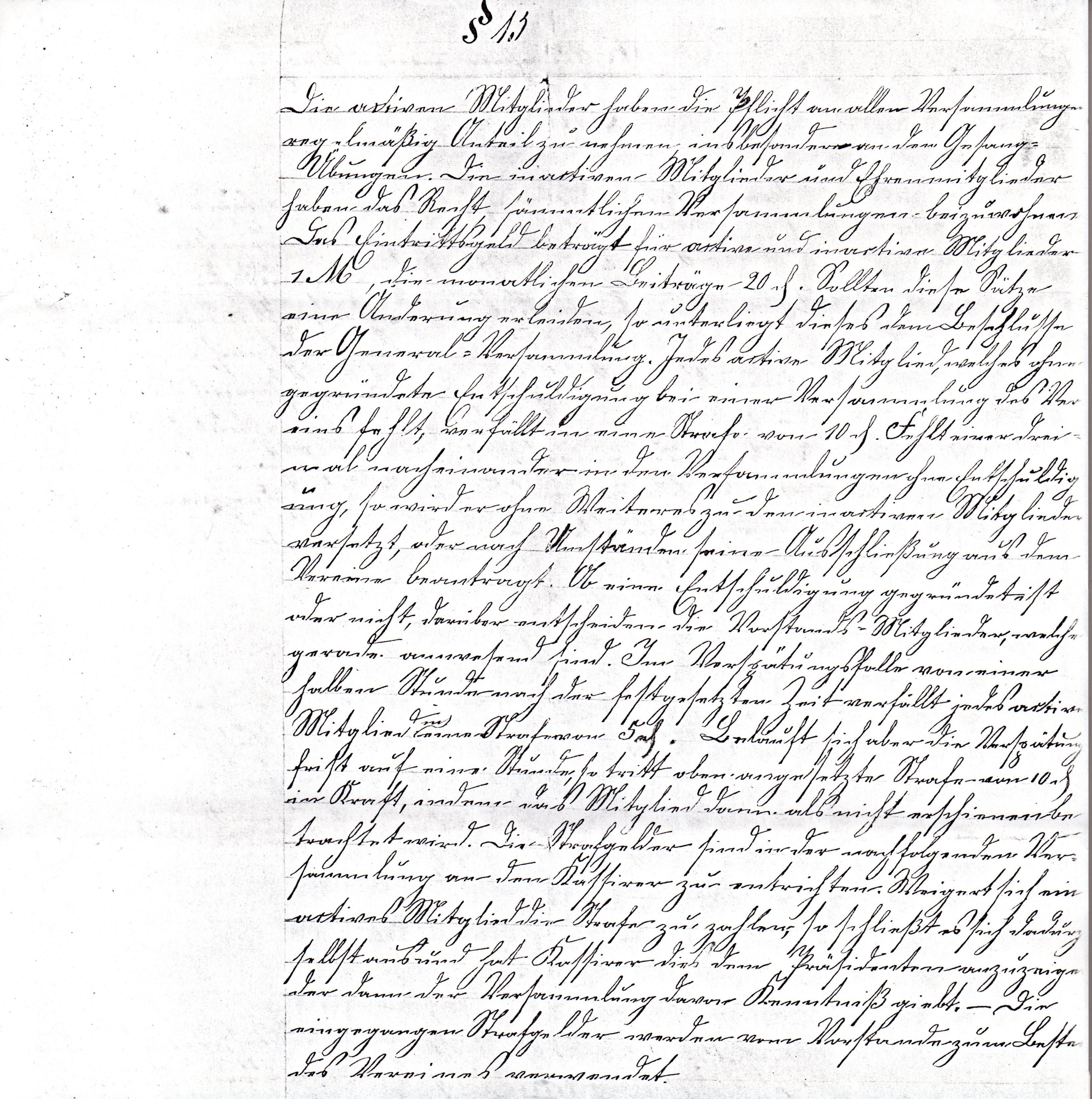 Statuten 1882 Bl. 4/1