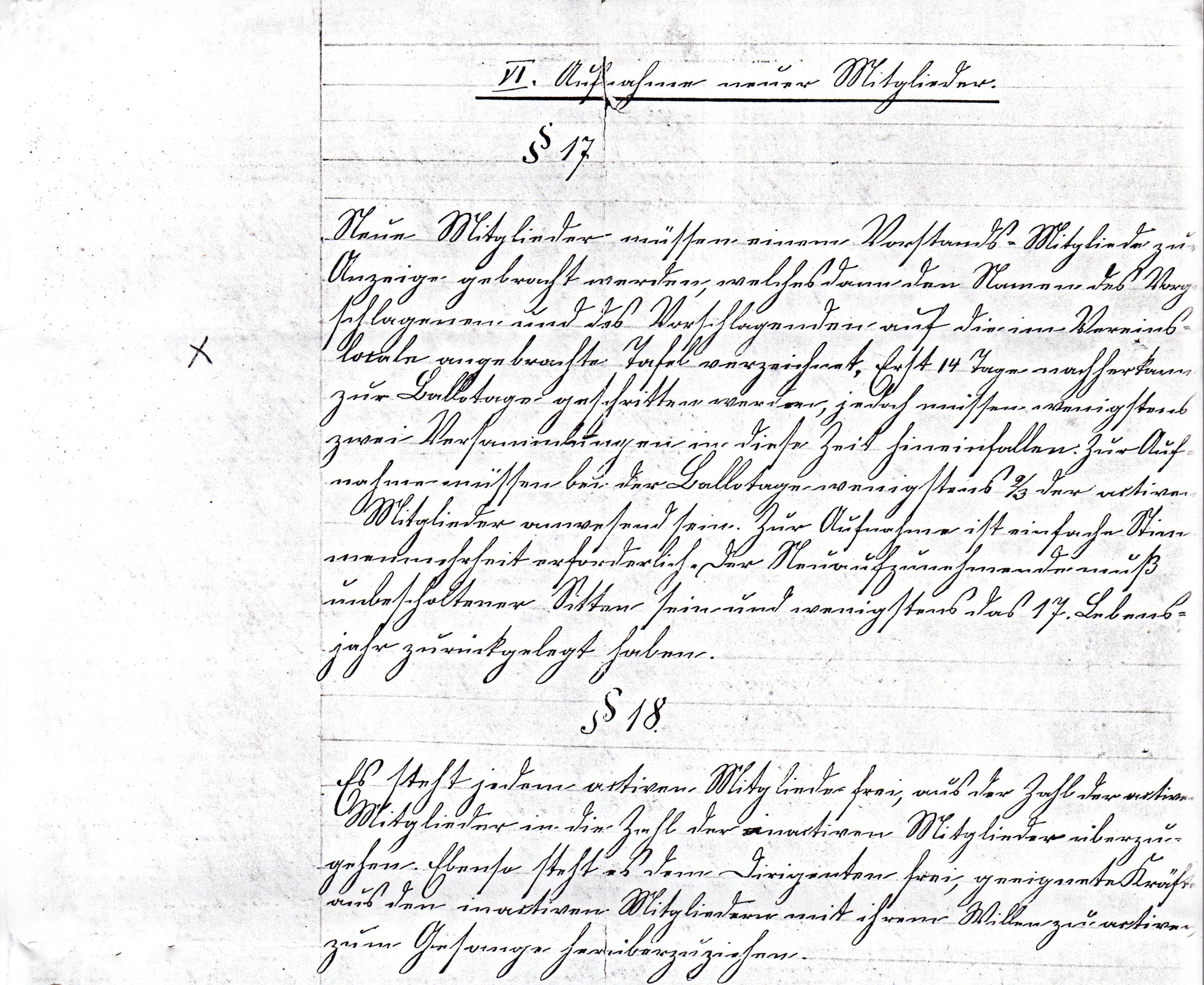 Statuten 1882 Bl. 5/1