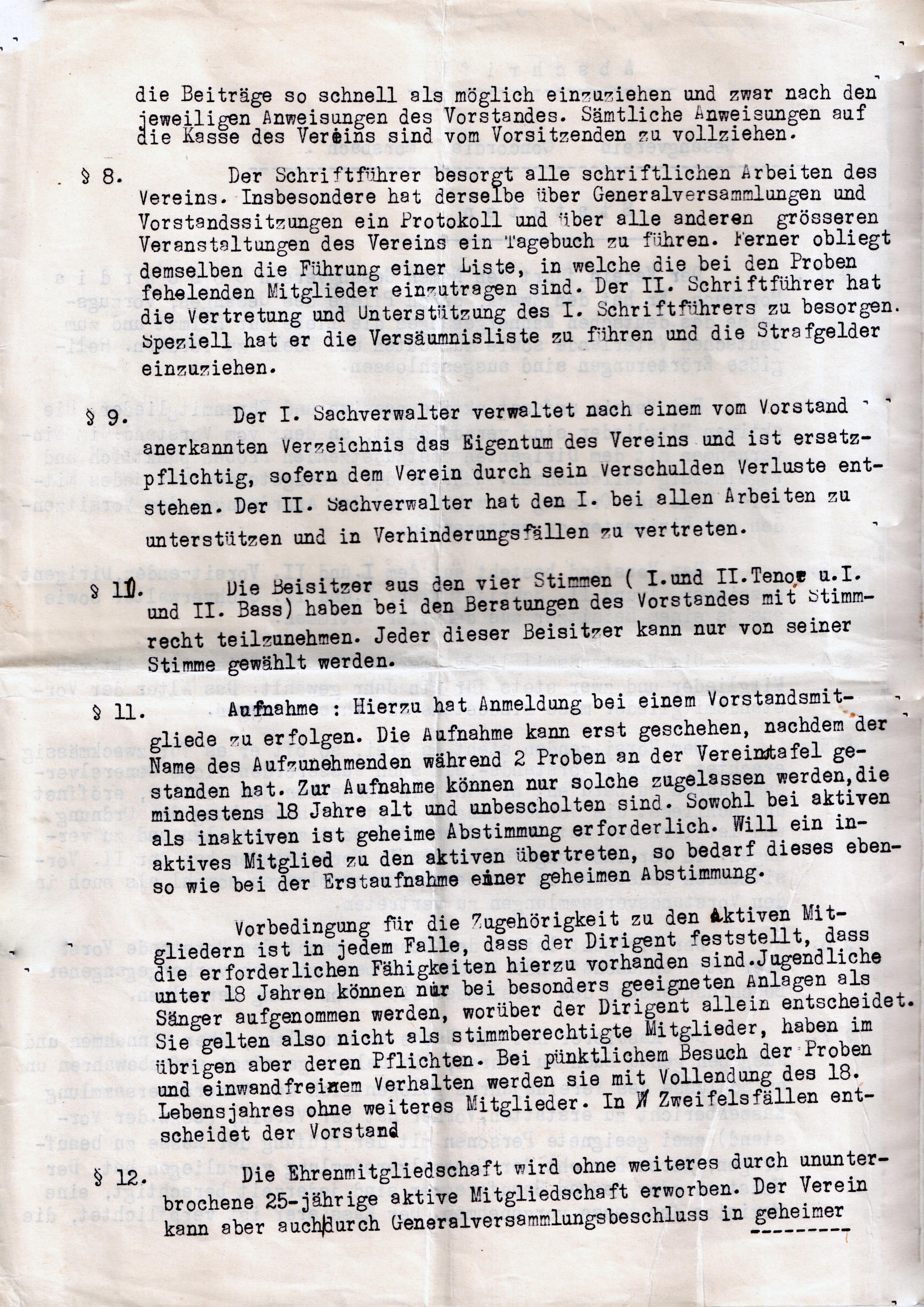 Statuten 1923 Bl. 2
