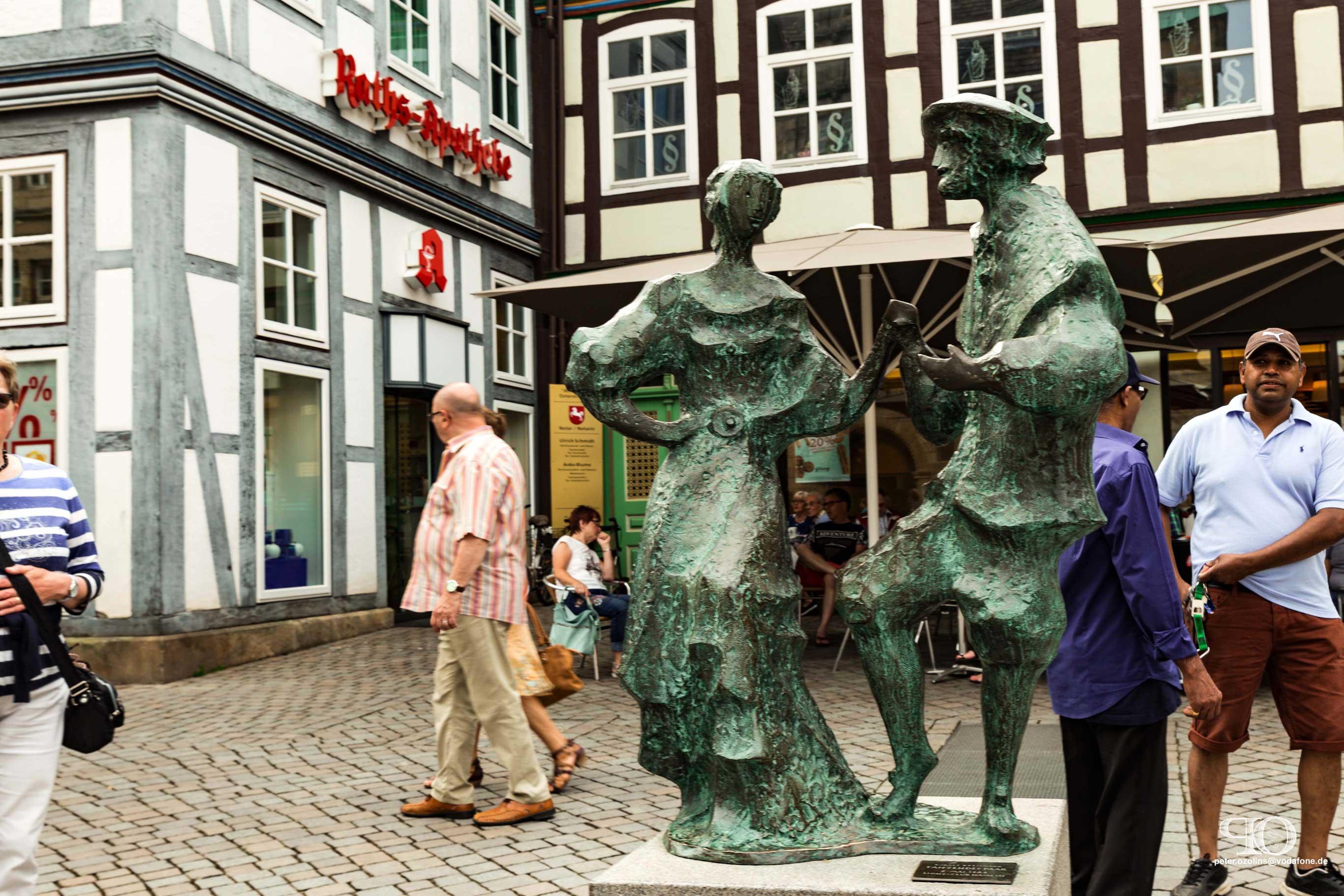 Stadtfuehrung Hameln / Die tanzenden